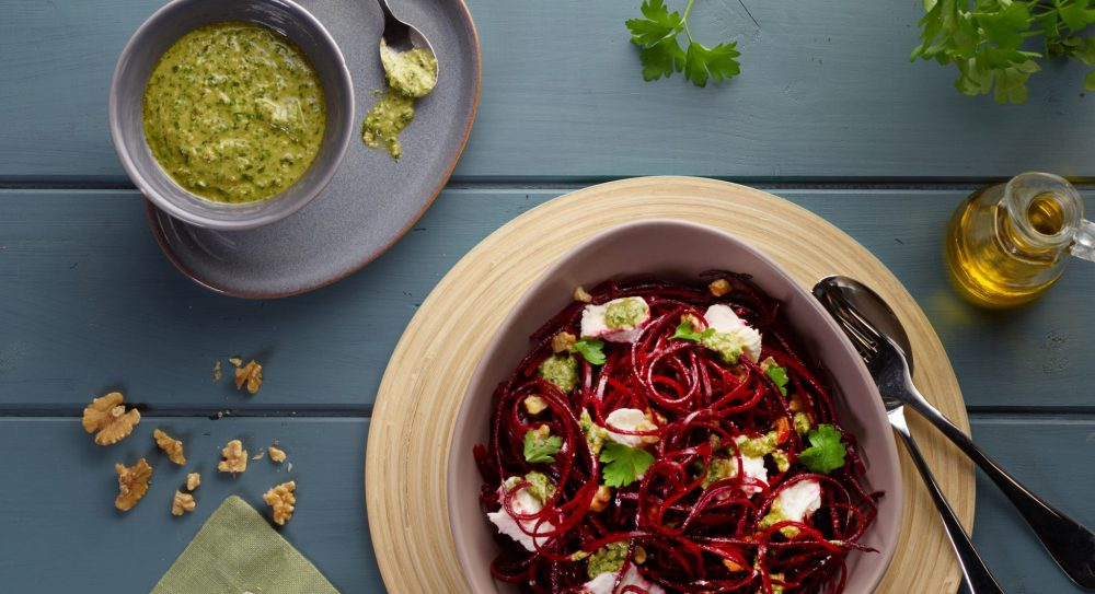 Beetroot and Goat Cheese Salad Lifestyle Photography